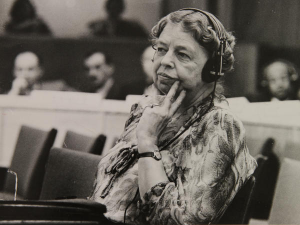 Eleanor Roosevelt, seen here in 1947, grew up with an alcoholic father and a mother who told her throughout her childhood how unattractive she was.