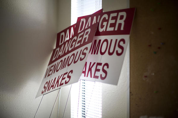 <p>Signs used to be posted outside the clinic warning of venomous snakes. Minto says the signs were part of an effort to deter protesters from the clinic's front lawn.</p><p></p>