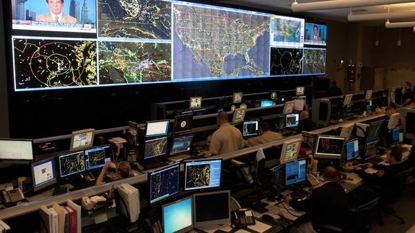 Agents at the Air and Marine Operations Center at an Air Force Reserve base in Riverside, Calif., track 20,000 to 25,000 flights a day for suspicious activity.