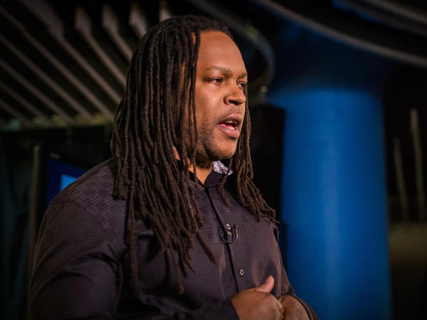 """Oftentimes it feels like we're literally talking about another person ... I've had moments where I've cried for that young man that I was"" — Shaka Senghor"
