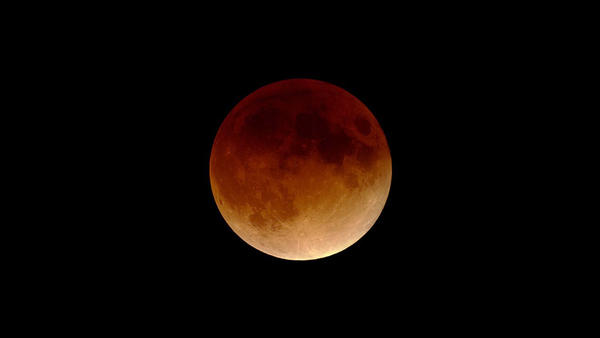"""A """"blood moon"""" captured on the night of Jan. 20, 2000."""