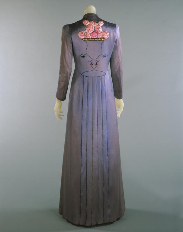 Evening coat, designed by Elsa Schiaparelli in collaboration with Jean Cocteau, Fall, 1937.