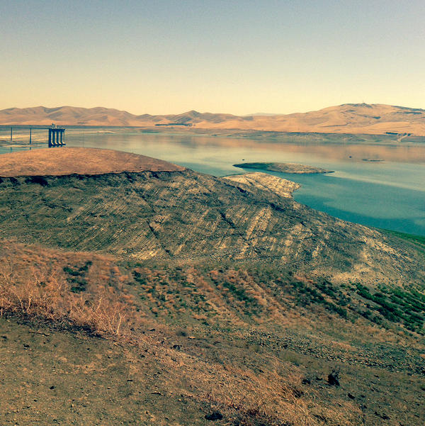 """The San Luis Reservoir in central California is the largest """"off-channel"""" reservoir in the U.S. It is currently at less than 30 percent of its normal capacity."""