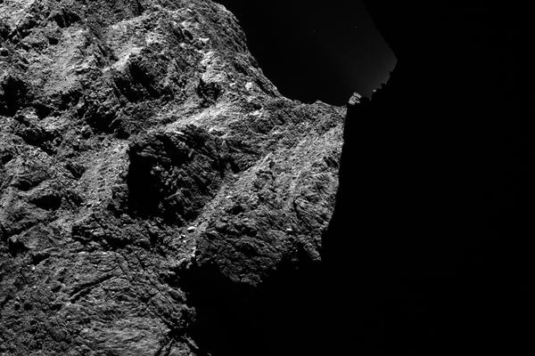 The surface of comet 67P is rugged and covered in boulders, craters and strange structures resembling sand dunes. Landing there won't be easy.