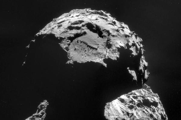 The landing site is seen on this image of comet 67P/Churyumov-Gerasimenko, taken on Nov. 6, just days before the Philae lander makes its historic descent to the surface.