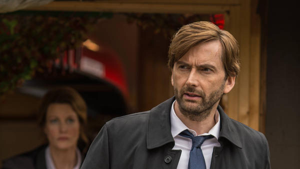 Scottish actor David Tennant stars as a grizzled detective in the BBC's <em>Broadchurch</em> and also the new American adaptation, <em>Gracepoint.</em>