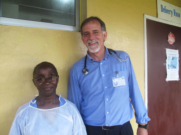 Midwife Ester Kolleh and family doctor John Fankhauser say that, despite the risk of getting Ebola, they won't stop helping women deliver babies at the maternity ward of Eternal Love Winning Africa.