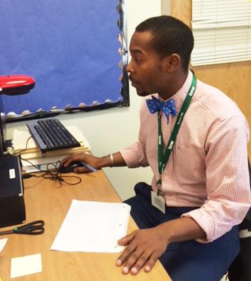 Johnathon Williams, now a TFA teacher, in 2014.