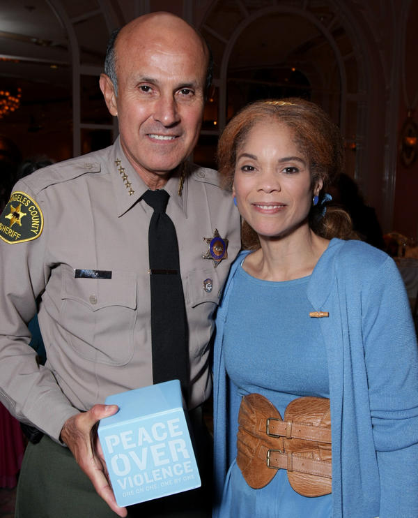Honoree Constance Rice, right, with Los Angeles County Sheriff Lee Baca at the Peace Over Violence Annual Humanitarian Awards Dinner in 2007.