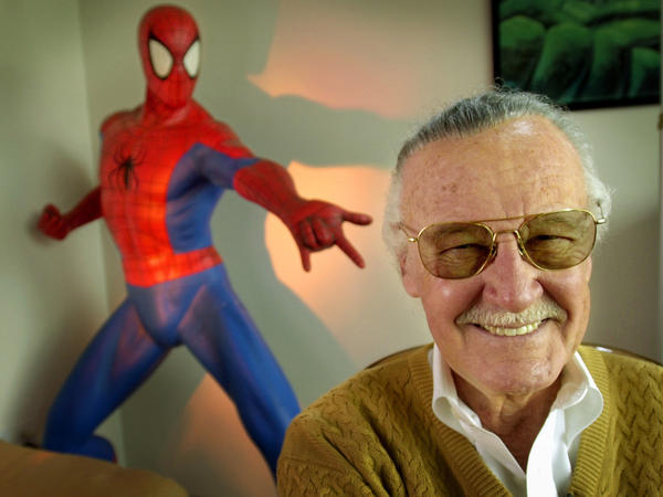 Stan Lee — shown here in 2002 — helped create Marvel mainstays like Spider-Man and the Avengers.