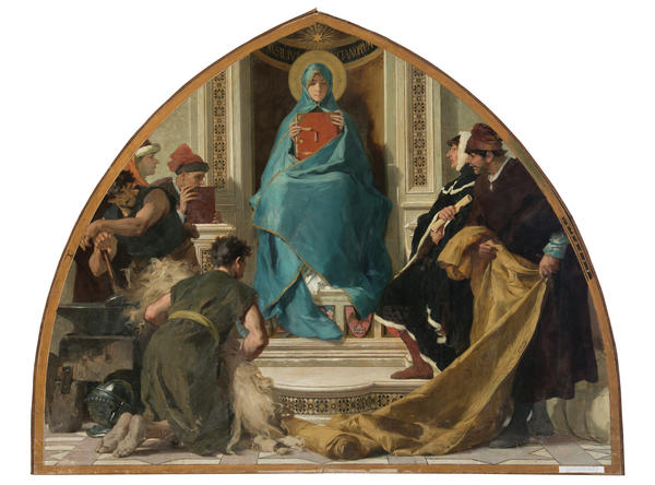 Nicolò Barabino's 1884 mural <em>Faith with Representations of the Arts </em>shows a more abstract understanding of Mary.