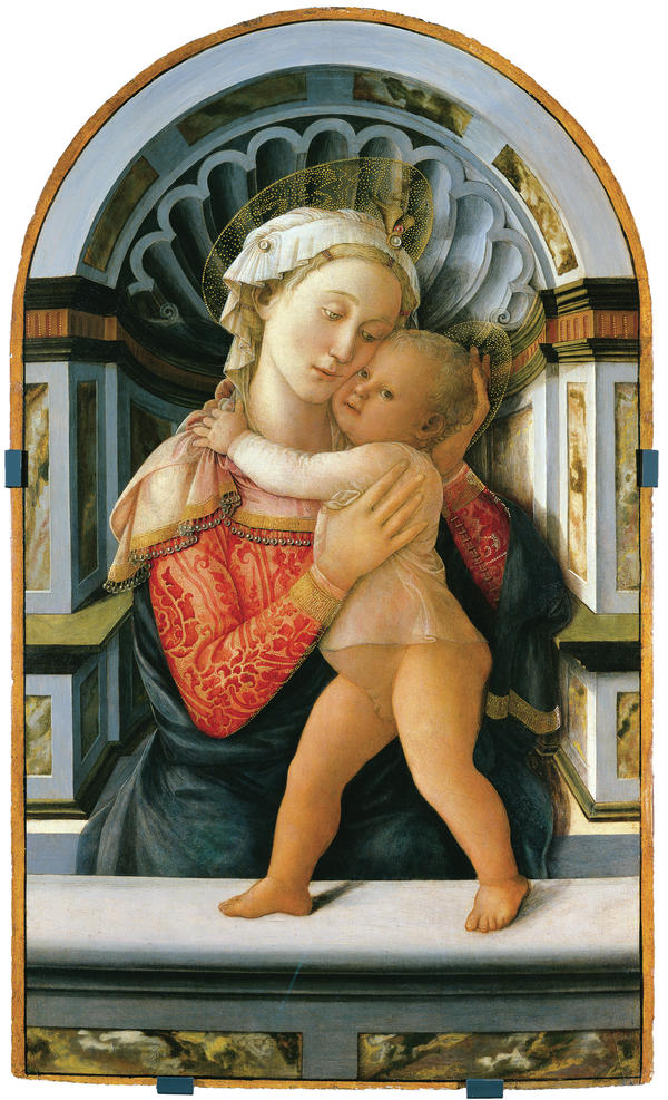 "Curator Timothy Verdon says ""Mary is unexpectedly fashionable"" in Fra Filippo Lippi's <em>Madonna and Child</em>, painted in the 1460s."