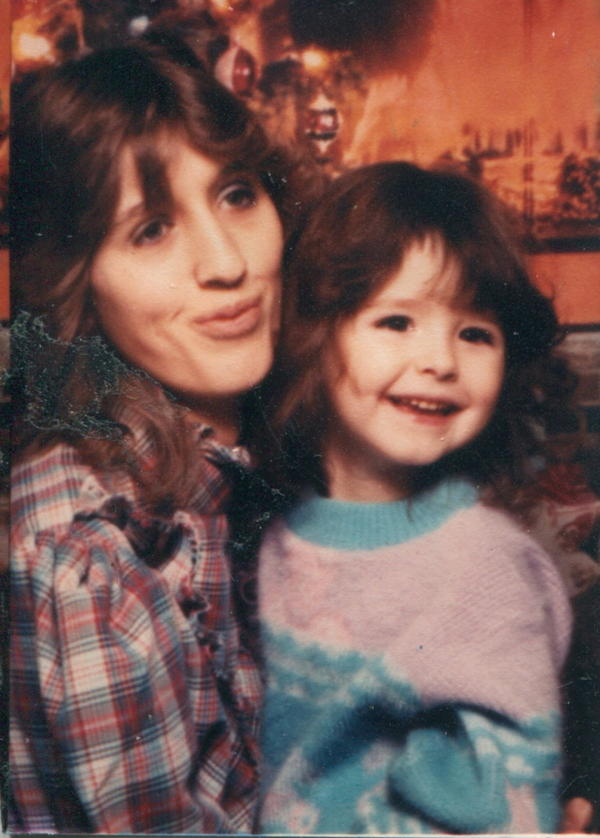 Crystal Gamet and her mother, Deborah Arnett, in 1986. One of Crystal's first memories is her mother teaching her to be afraid of her blood. (Courtesy)