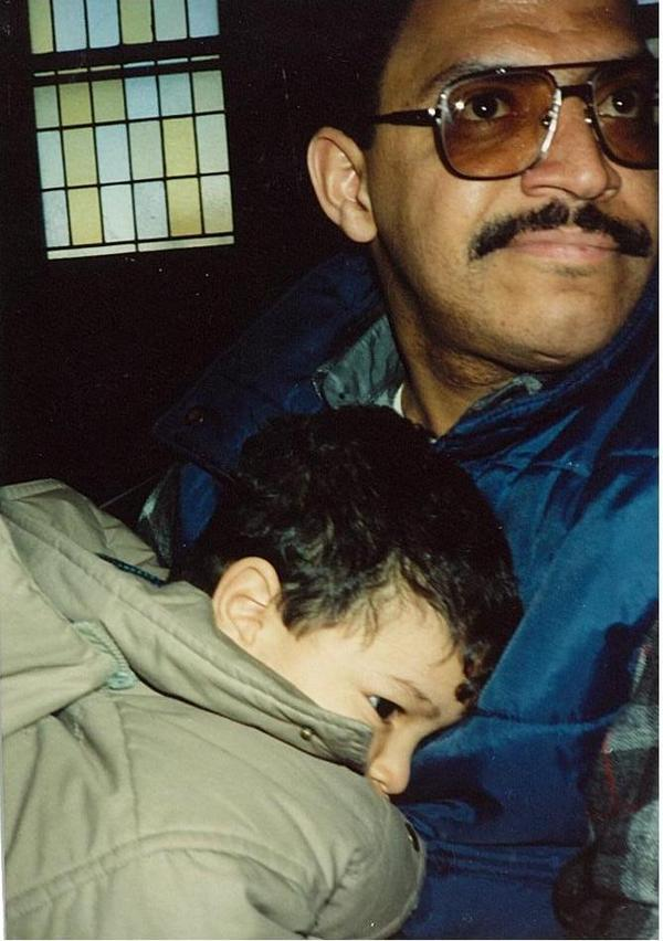 Mateo Rodriguez with his father, Alfredo Rodriguez in 1991. (Courtesy)