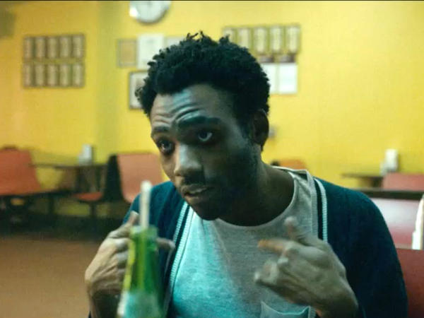 "Childish Gambino, aka actor, singer and rapper Donald Glover, in a scene from his new video for the song, ""Sober."""
