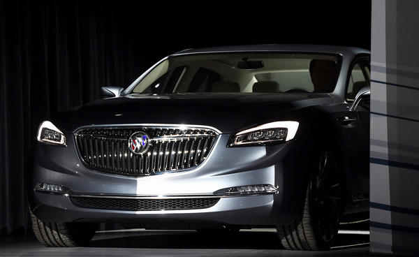 General Motors reveals the new Buick Avenir Concept vehicle to the media on the eve of The North American International Automobile Show in Detroit on Sunday.