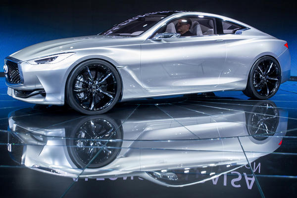 The Infiniti Q60 concept car is unveiled.