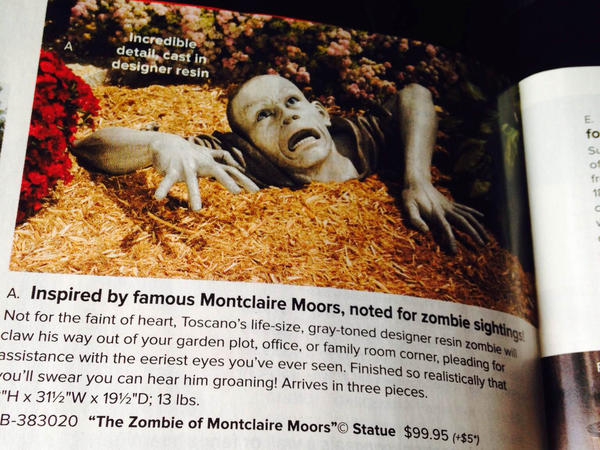 "Many NPR readers wrote in lamenting the possible loss of the ""Zombie of Montclair Moors"" statue."