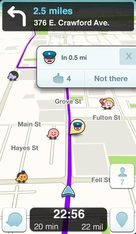 Waze allows users to share when they've seen a police officer. Law enforcement officials say that could put police in danger.