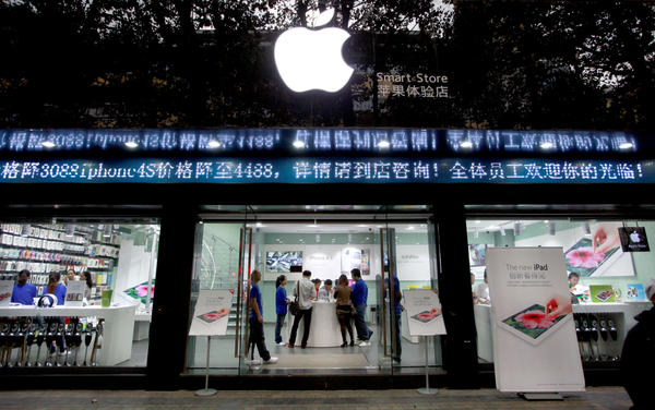 Some fake Apple stores like this one in Kunming, in China's southwestern Yunnan province, were so authentic-looking that even some of their employees didn't know they were fake.