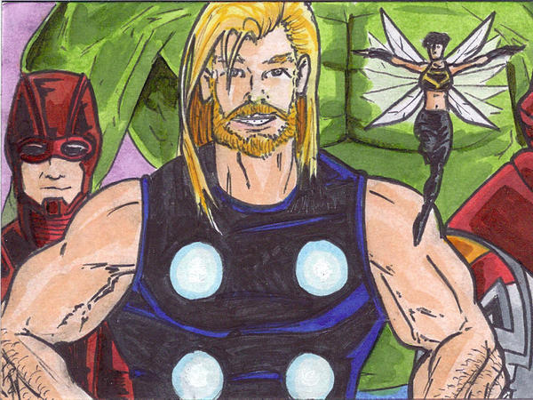 Scott Ryan-Hart made this superhero doodle during one of his lengthy work meetings.