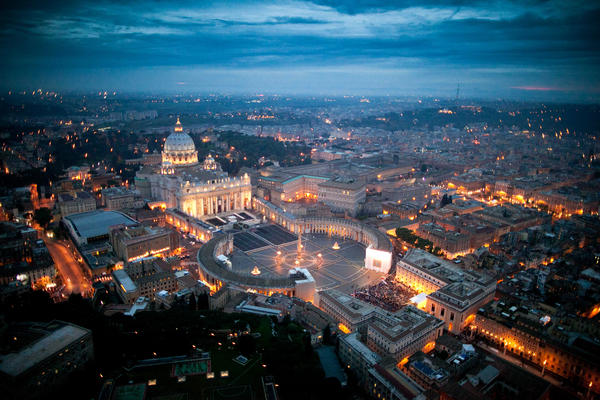 """The Vatican Bank is """"essentially an offshore bank in the middle of a foreign country,"""" says Gerald Posner. Above is an aerial view of St. Peter's basilica in Vatican City."""