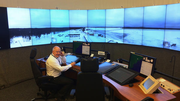 Mikael Henriksson works at an air traffic control center in the town of Sundsvall, Sweden. But the screens show the airport in the tiny town of Ornskoldsvik, more than 100 miles away. It's the world's first facility to use new technology to help passenger planes land far away at an unmanned airport.