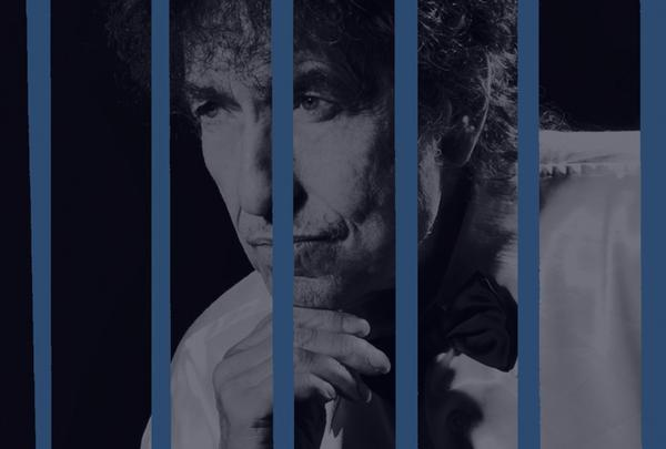 Detail from the cover art of Bob Dylan's new album-length Frank Sinatra tribute, <em>Shadows in the Night</em>.
