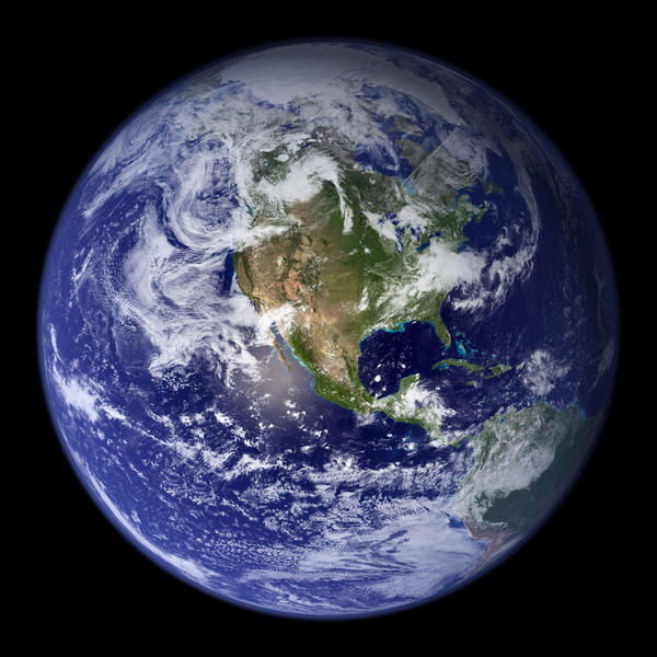 "NASA says this ""blue marble"" image is the most detailed true-color image of the entire Earth to date."