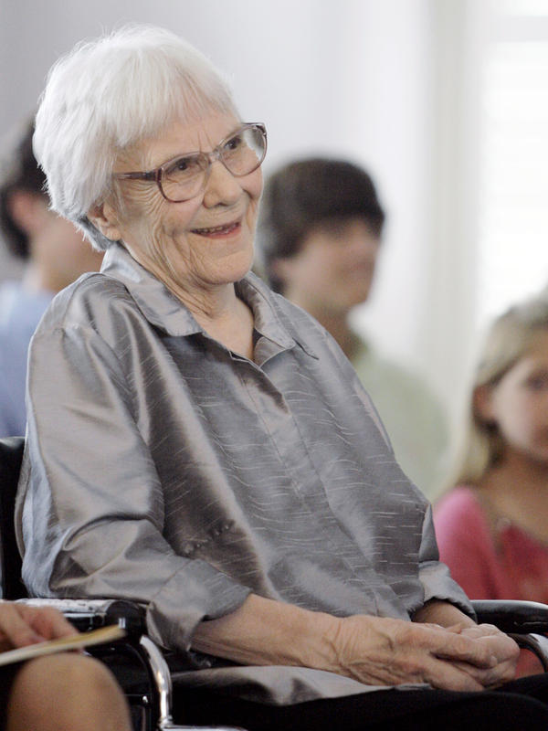 Author Harper Lee attends a ceremony in Montgomery, Ala., in 2007.