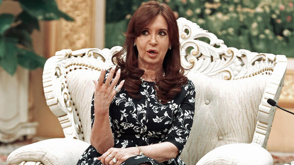 Argentine President Cristina Fernandez de Kirchner will send letters of clarification to two celebrities, after they tweeted about the controversial death of prosecutor Alberto Nisman. Kirchner is seen here during her current trip to China.