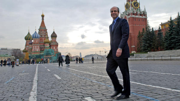 Bill Browder crosses Red Square in 2004, at the height of Hermitage Capital Management's success.