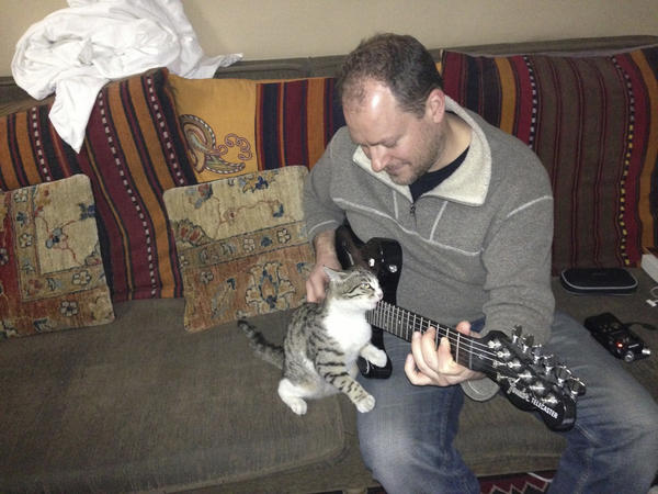 Squeak joins Sean for a jam session. (Courtesy of Sean Carberry)