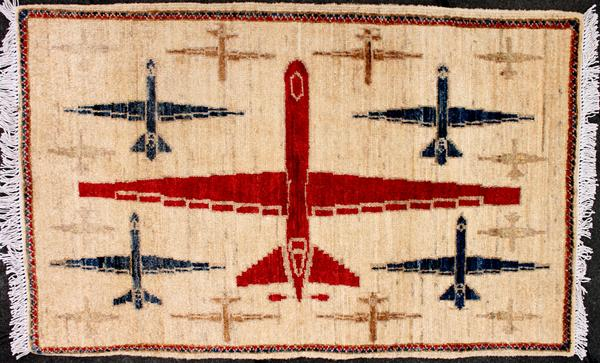 Afghan war rugs featuring U.S. drones is a recent trend in the market, says collector Kevin Sudeith.