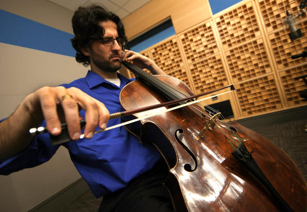 Amit Peled is preparing to re-create a century-old cello recital by Pablo Casals, using the master's own instrument. Here, he shows if off in NPR's Washington, D.C., studios.