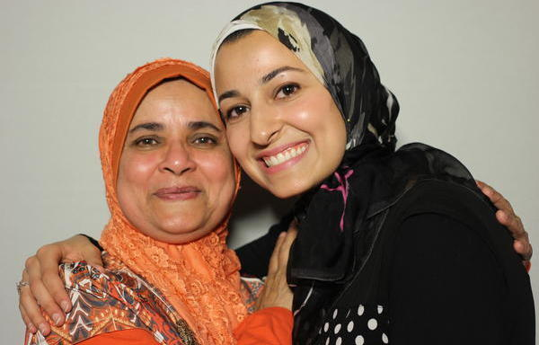 Yusor Abu-Salha (right) recorded a StoryCorps interview last summer with her former teacher, Sister Jabeen. Abu-Salha died earlier this week, along with her sister and husband.