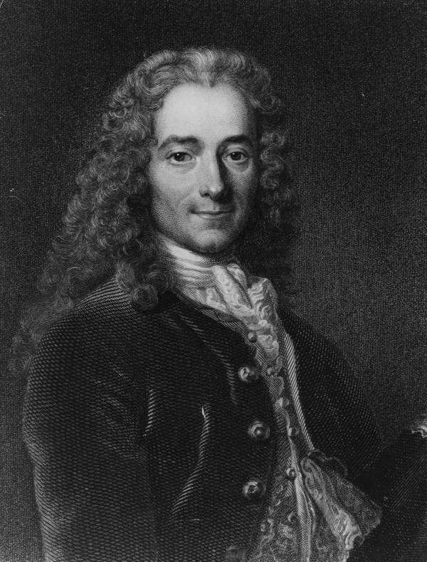 Francois-Marie Arouet, better known as Voltaire (1694-1778). The author and philosopher wrote 'Treatise on Tolerance,' on religious freedom, in 1763. It has gained a renewed readership after Islamist extremists carried out deadly attacks last month in Paris.