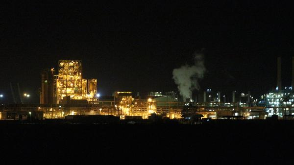 Libya's oil terminals — like the Brega refinery and oil terminal, pictured in March 11, 2014 — are being fought over by militias and by the nation's two rival governments. The conflict is drying up production, and may have a devastating impact on the nation's battered economy.