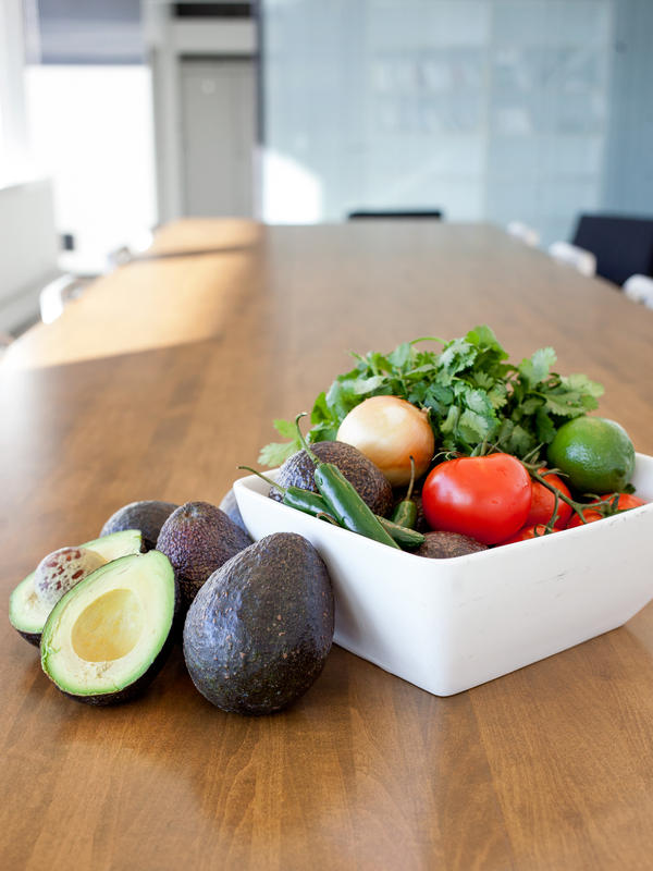 The ingredients for the guacamole are pretty standard: ripe avocados, Serrano peppers, tomatoes, cilantro and lime. But how they are put together is what makes the dish stand out, says chef Martin Morales.