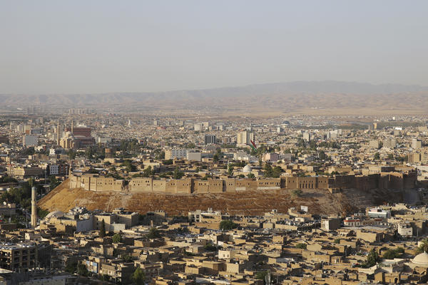 A view of the ancient Citadel in the center of Erbil, in northern Iraq. Built 6,000 years ago, the Citadel may be the oldest continuously inhabited settlement in the world. It's currently undergoing a renovation that's expected to take 25 years.