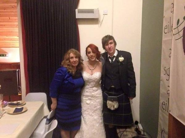 This photo from Lindsay Maden shows the mother of the bride, Celica Bleasdale, wearing the dress. (Lindsay Maden via BuzzFeed)