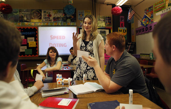 For many of these students, talk of polynomials elicited groans. Then Miss Hagan got them speed-dating.