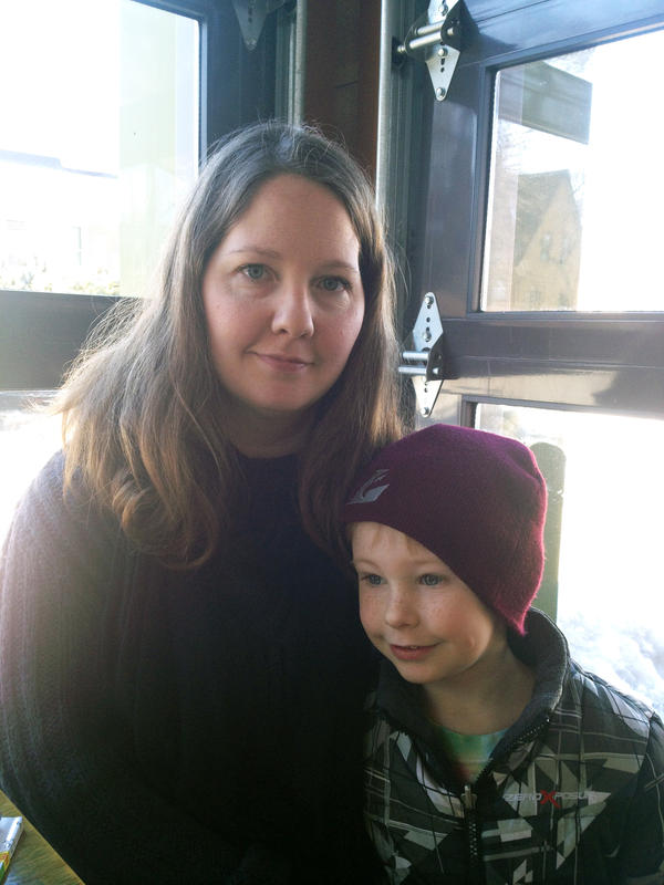 Jenni Hofschulte and her 4-year-old son, Lachlan.