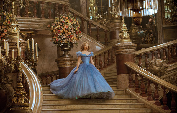 Lily James is Cinderella in Disney's live-action version of the classic fairy tale, which it helped make famous in a 1950 cartoon.