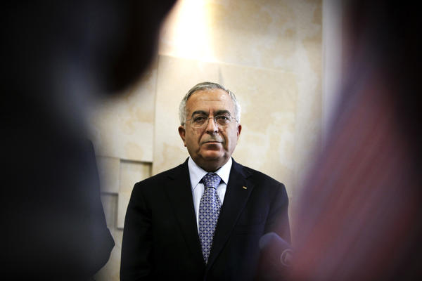 Former Palestinian Prime Minister Salam Fayyad says the international community is not interested in another failed state. Fayyad, shown here in the West Bank city of Ramallah in 2012, has pushed for the Palestinians to develop their own institutions as part of their quest for statehood.