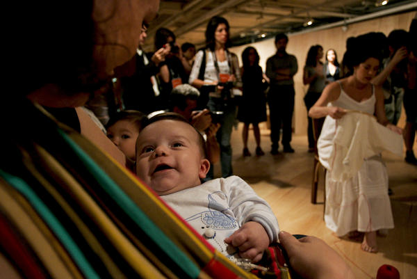 Brazilian mothers participate in a demonstration in 2011 for the right to breastfeed in public, in Sao Paulo, Brazil.