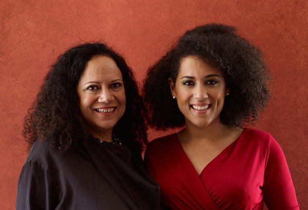 Alice (left) and her daughter Caroline (right) wove their new healthy soul food recipe and family histories into the book 'Soul Food Love: Healthy Recipes Inspired by One Hundred Years of Cooking in a Black Family.' (Penny De Los Santos)