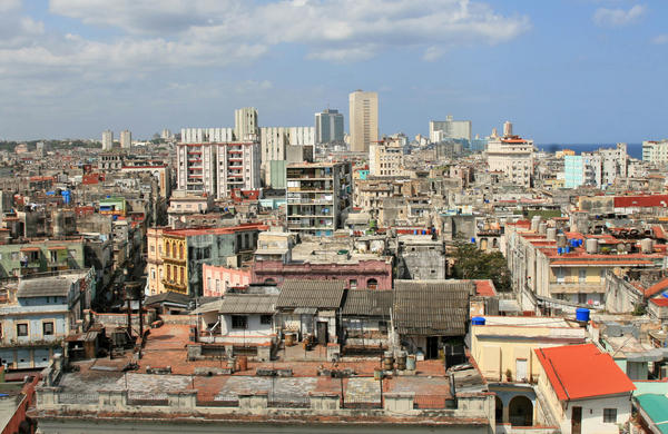 A view of one of the oldest parts of Havana. The buildings in the city tell a story of inequality.