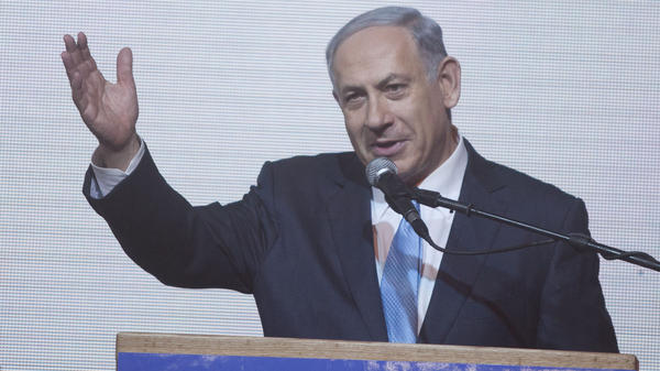 Israeli Prime Minister Benjamin Netanyahu speaks to supporters following the country's March 17 election. After a bruising campaign in which he faced considerable criticism, Netanyahu has taken a number of steps to try to ease tensions.