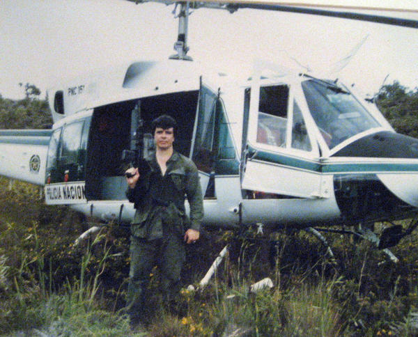 Michael Vigil on a search and destroy operation in the Colombian jungles. Vigil, a former undercover agent with the Drug Enforcement Administration, says he would like to get back in the game. <br /><br />